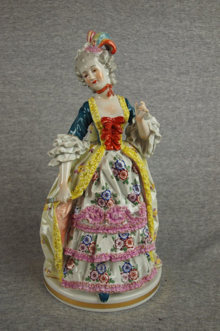 """514:  Figure of a lady in Victorian dress, 12"""""""