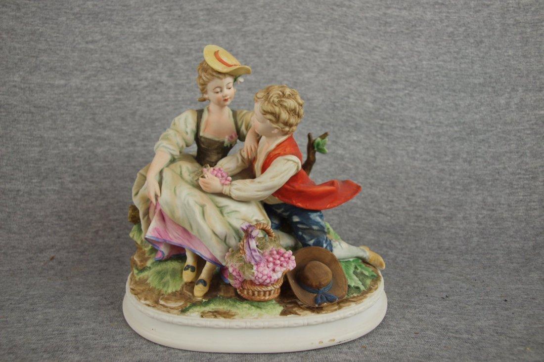 "516:  Lefton bisque figure of couple, 7 1/2"""