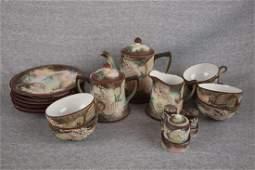 556: Oriental Satsuma dragon ware dessert/tea set with