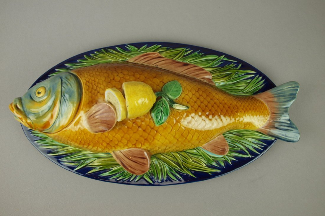 620:  MINTON majolica extremely rare fish tureen with a