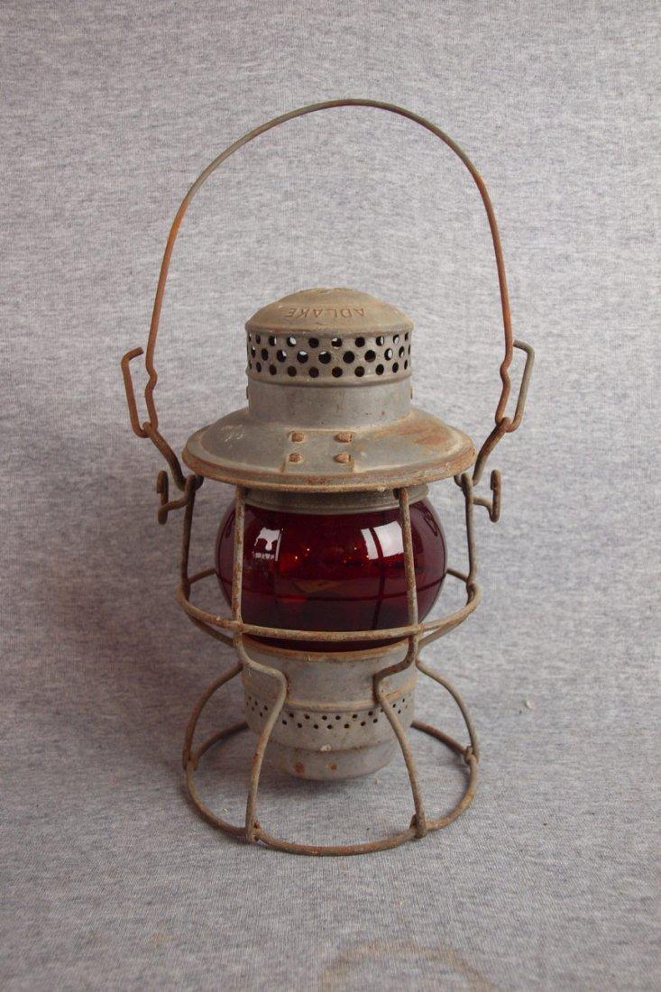 Adlake B&O railroad lantern   with clear globe