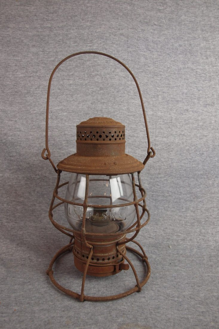 "Adams & Westlake railroad   lantern embossed ""S&MSRY"""