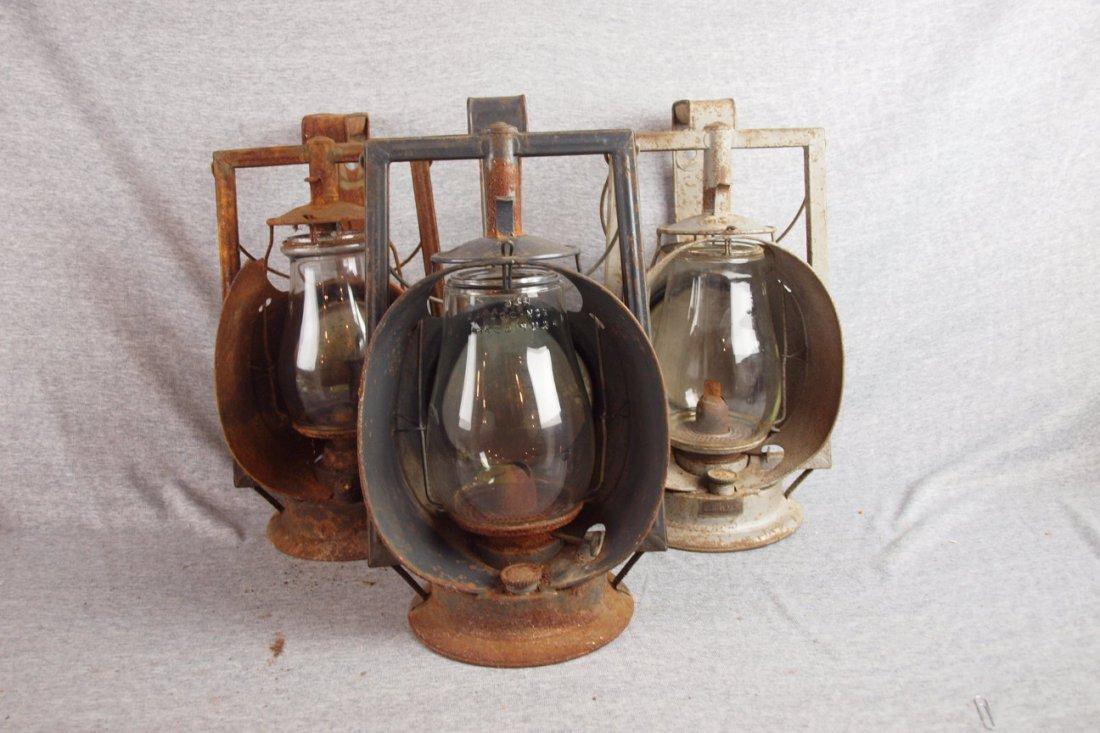 Lot of 3 railroad inspectors   lanterns, various condit