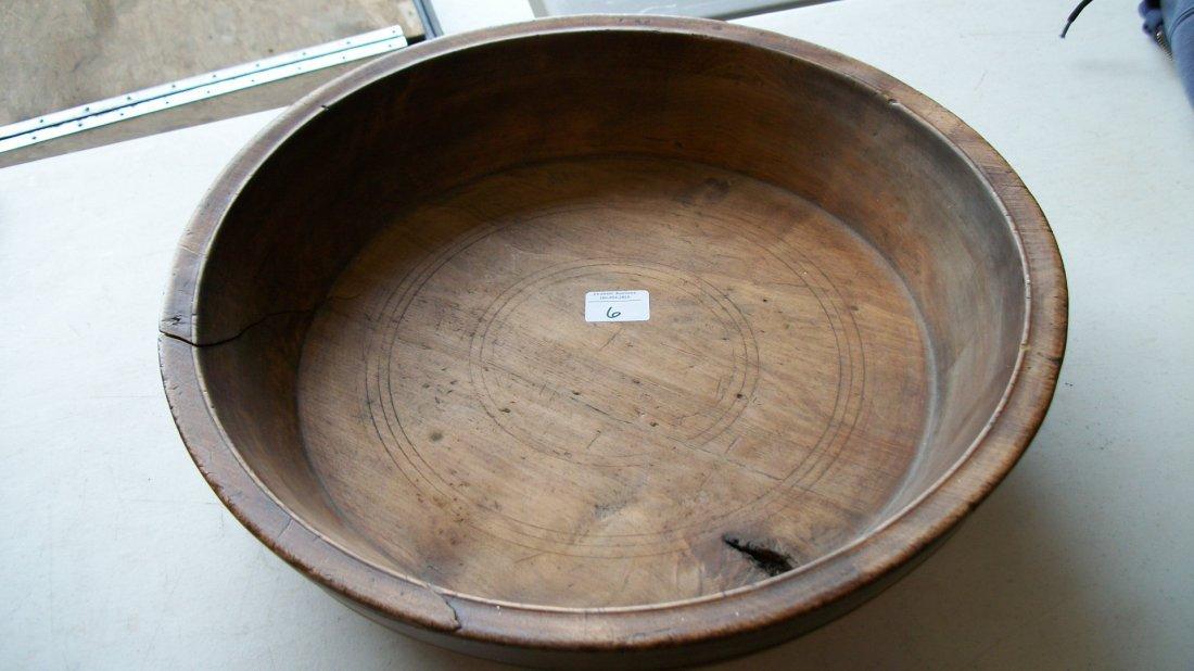 Early Wooden Walnut Burl Wood   Treen Ware Bowl, 16 1/