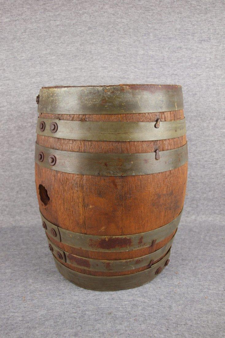 """Small oak wooden whiskey   barrel, 11 1/2"""""""