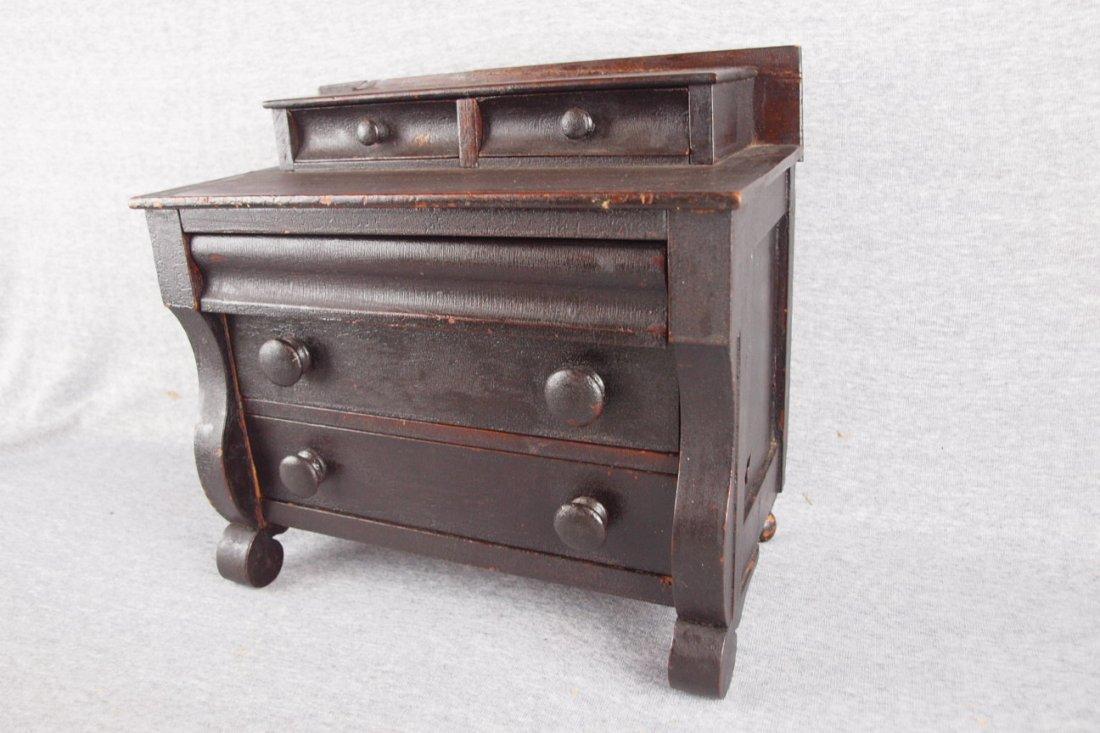 Early Empire style salesman   sample dresser, original