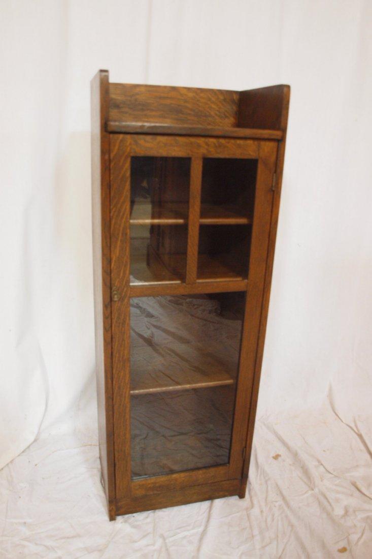 Limbert oak Arts and Crafts   single door bookcase, or