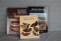 Lot of 3 duck decoy reference   books Collectors Gui