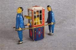 Lehmann Man Da Rin tin   lithograph key wind toy in
