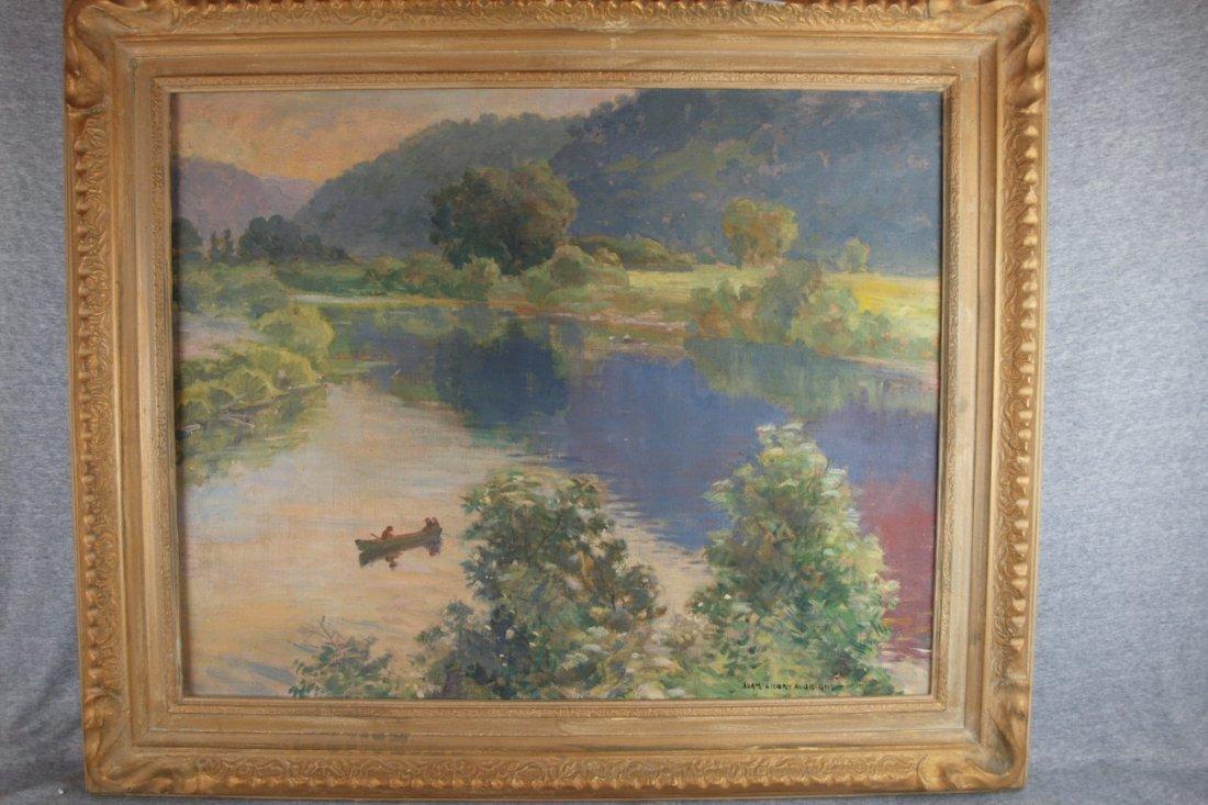"""Adam Emory Albright   (1862-1957) Oil On Canvas,   """"af"""