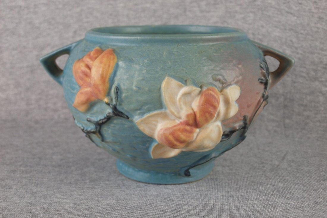 """Roseville blue Magnolia  jardiniere, 665-5"""""""