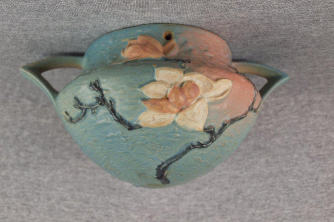 Roseville blue Magnolia  hanging planter
