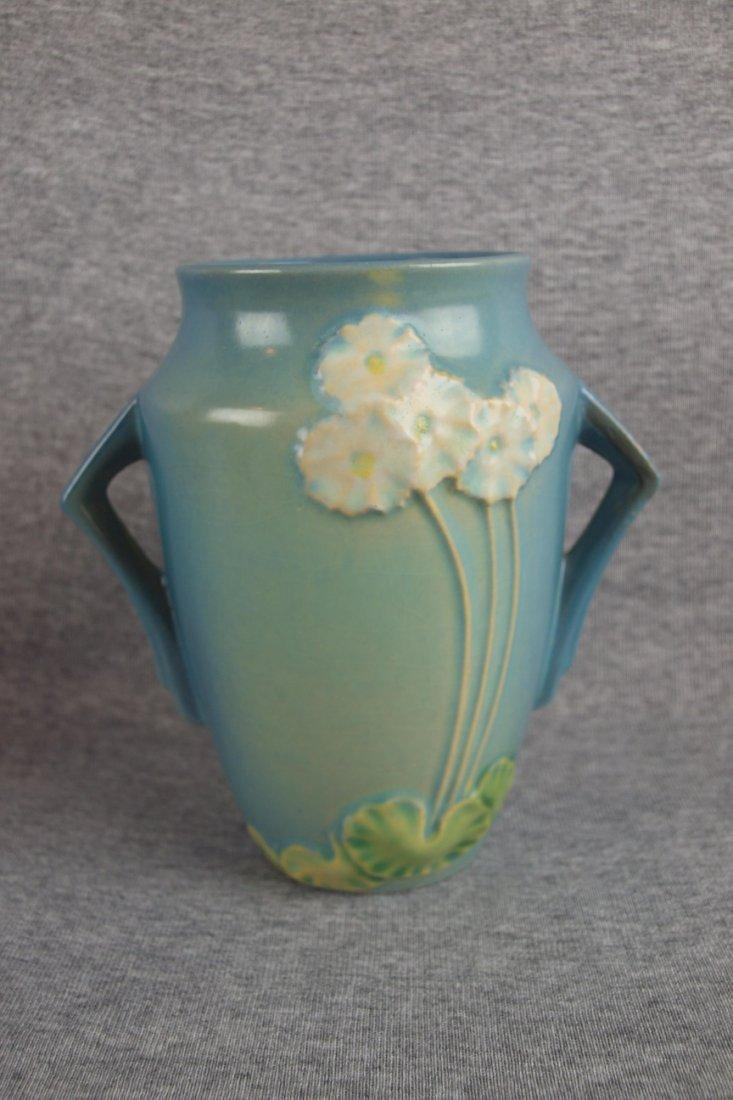 "Roseville blue Primrose ovoid   vase, 760-6"""