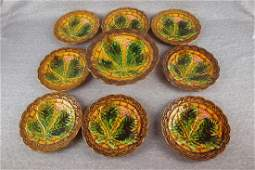 Majolica Villeroy  Boch 9   piece dessert set with 10