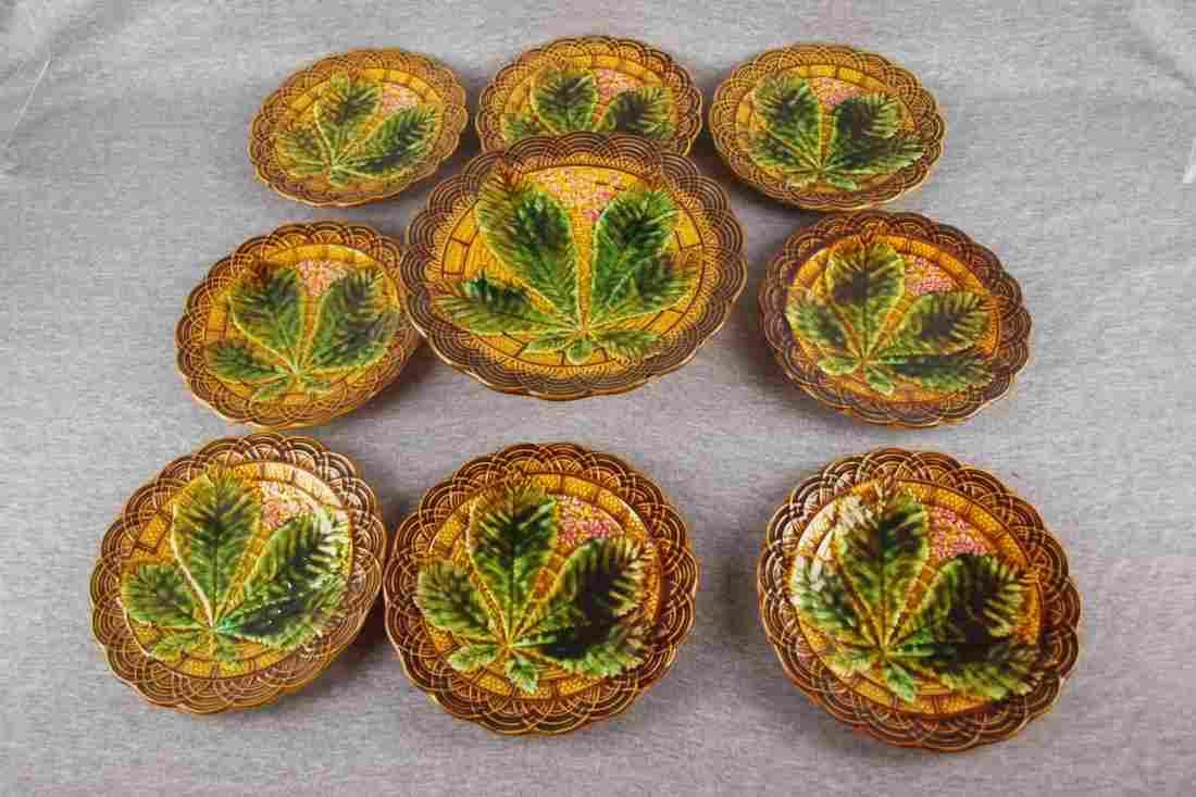 Majolica Villeroy & Boch 9   piece dessert set with 10