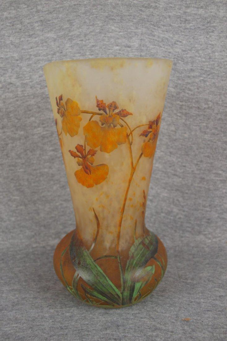 Daum Nancy French cameo art   glass vase, bulbous base