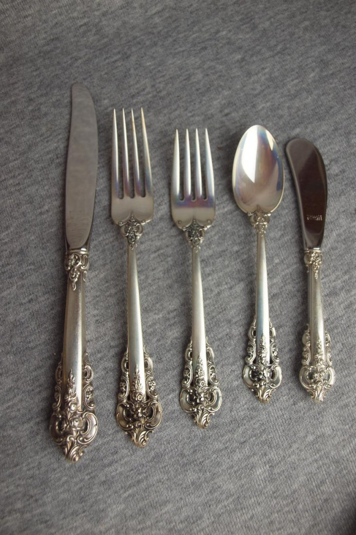 Wallace sterling silver set of  flatware, 5 piece plac