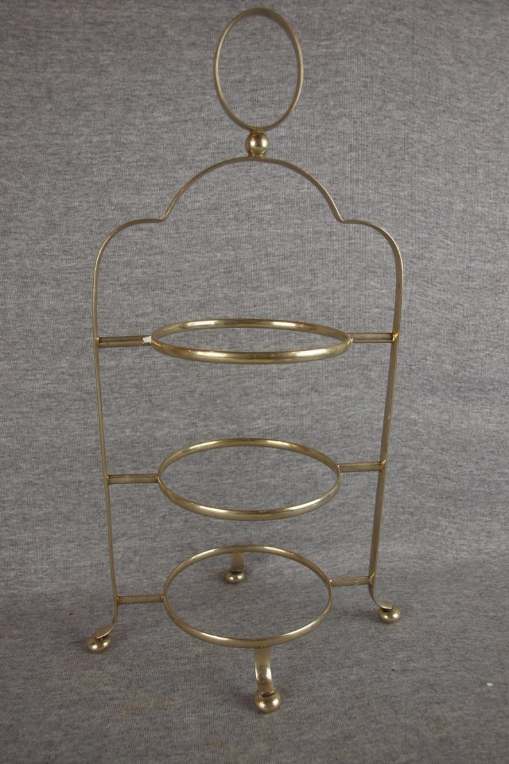English silver hallmarked   three tier server, 18""