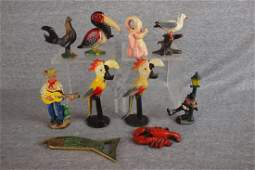 Cast iron group of 10 figural   bottle openers  chick