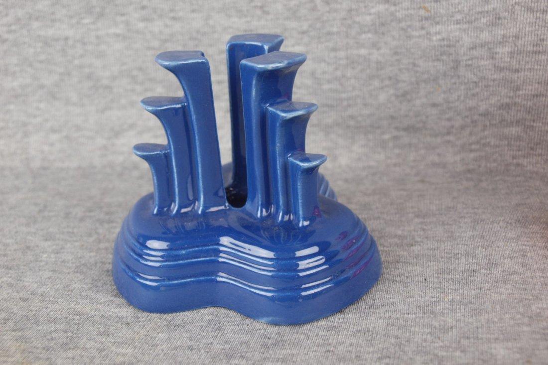 Fiesta cobalt single tripod candle holder