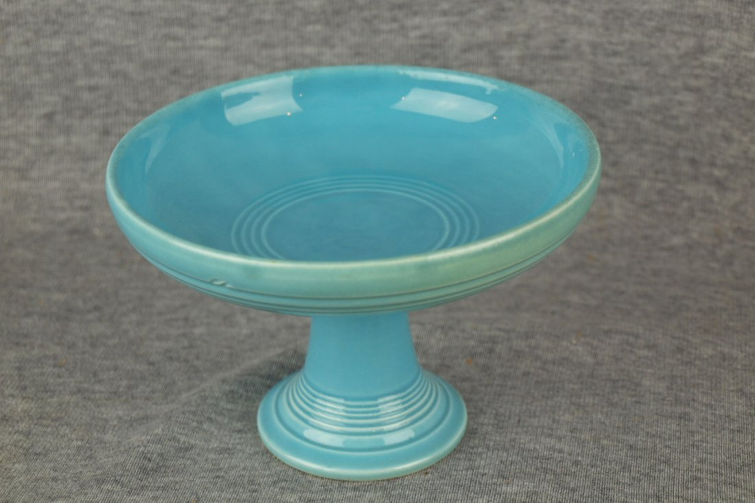 Fiesta sweets compote, turquoise, signed HLC