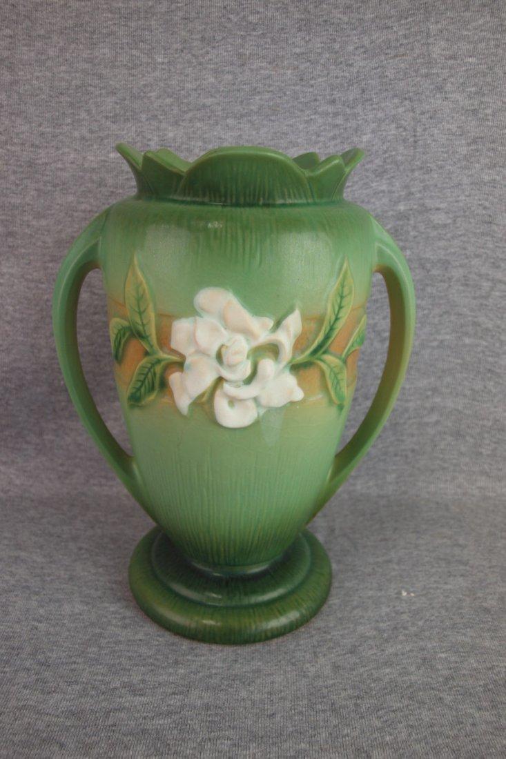 Roseville green Gardinia vase, 696-10