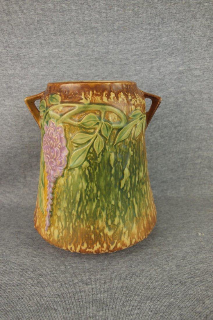 """Roseville Wisteria vase, 8 1/4"""""""