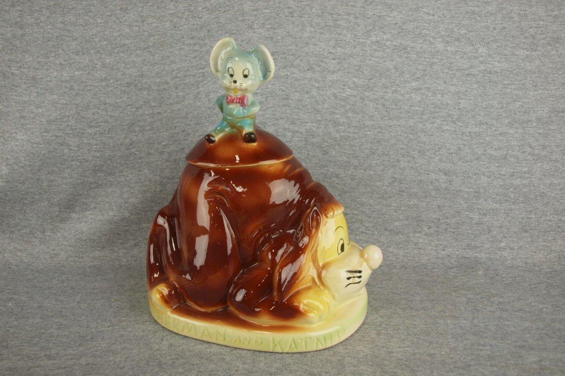 "RARE American Bisque ""Herman and Katnip"" cookie jar"