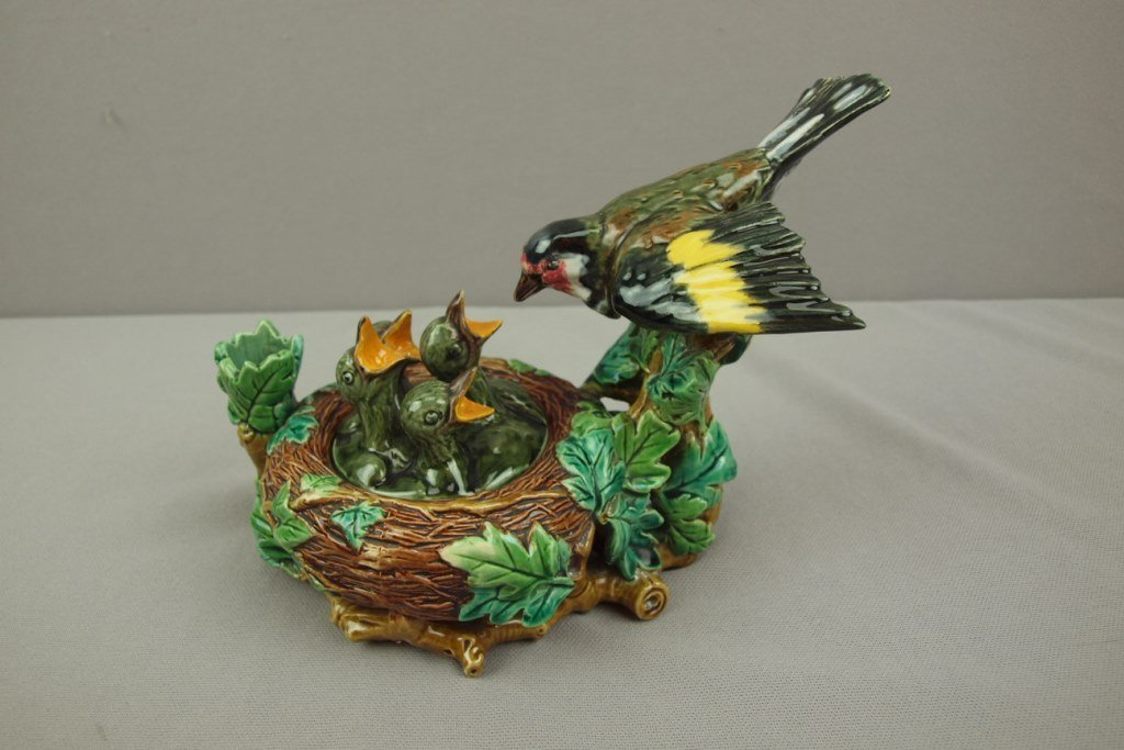 MINTON majolica extremely rare newly discovered bird's