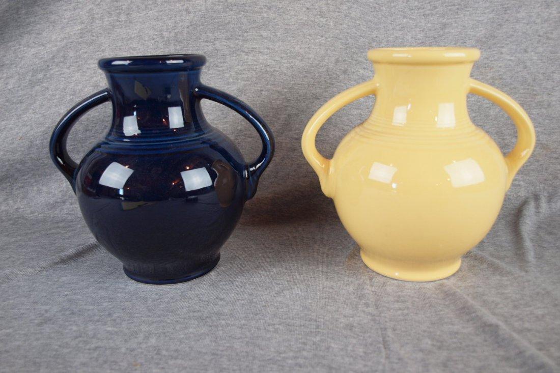 Fiesta Pot 86 lot of 2 Millennium vases, NIB, cobalt