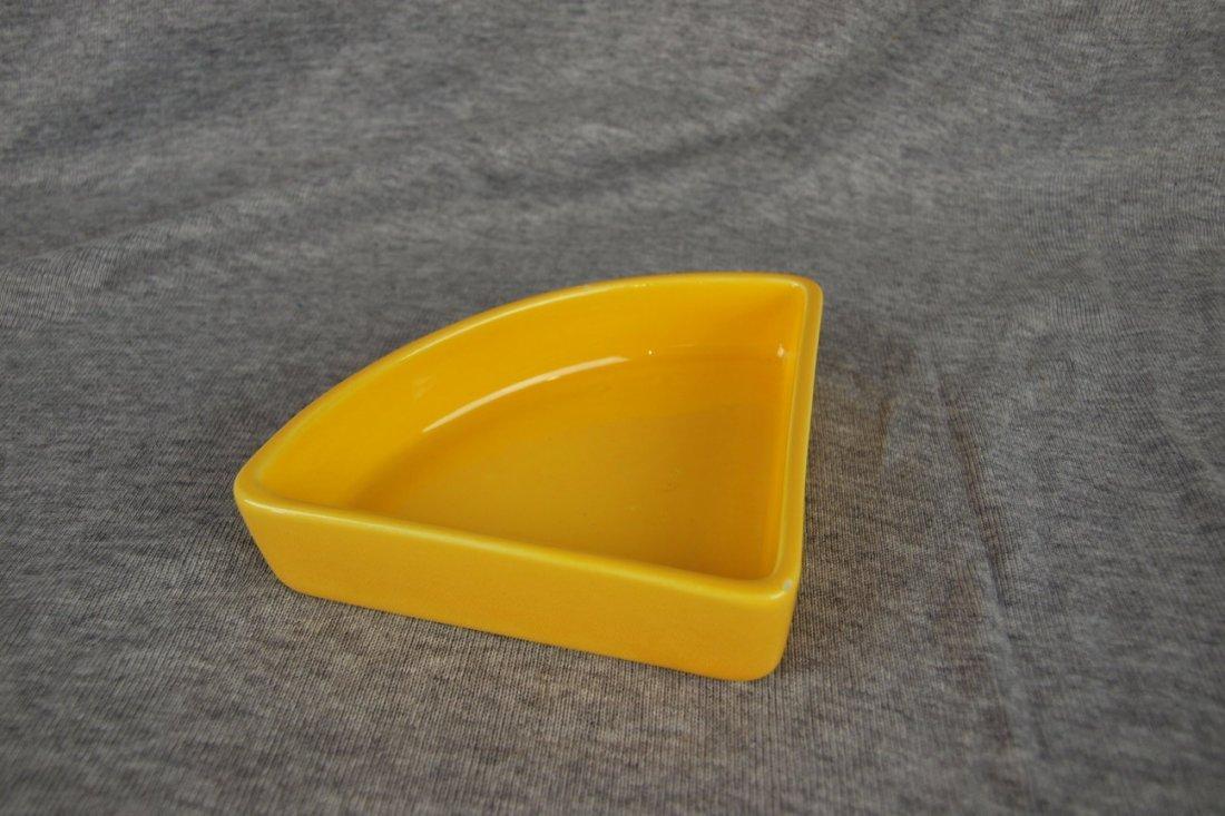 Fiesta Harlequin relish tray insert, yellow, minor nick