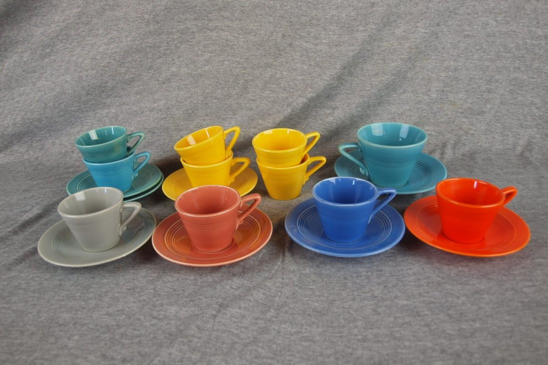 Fiesta Harlequin demitasse cup and saucer group - 2