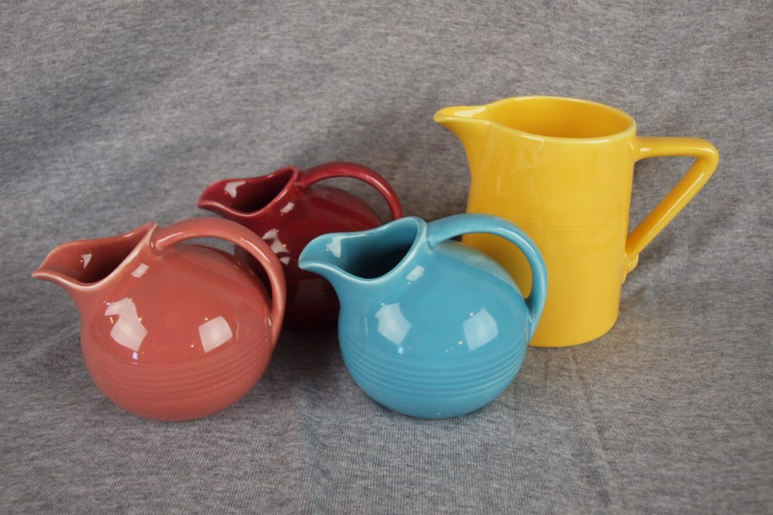 Fiesta Harlequin lot of 3 novelty creamers - turquoise,