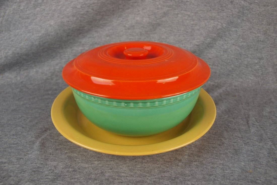 Fiesta Kitchen Kraft promotional casserole - red lid,