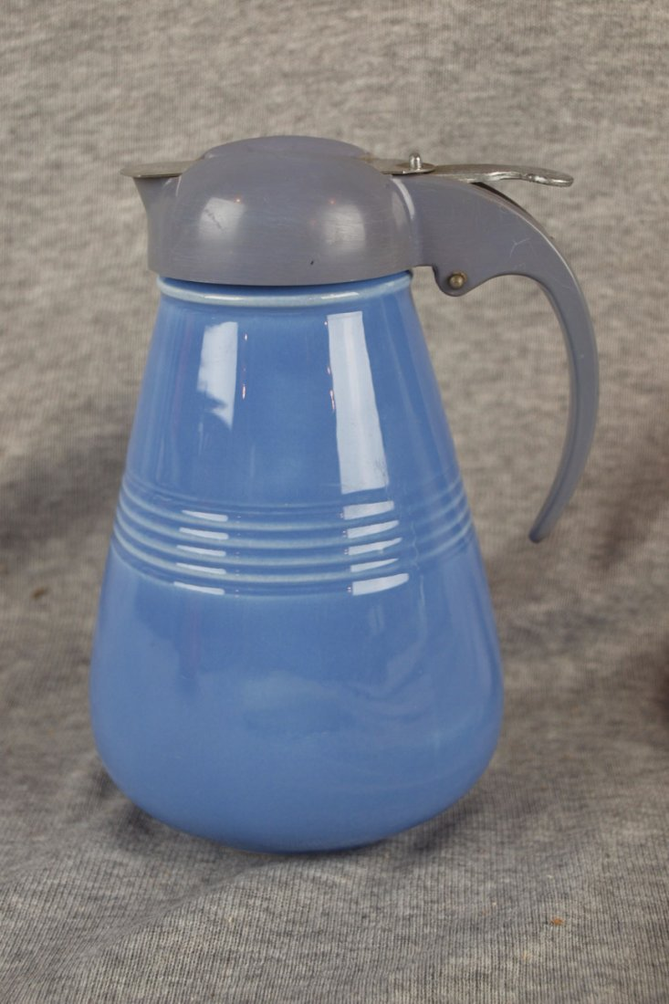 Fiesta Harlequin  syrup pitcher w/drip cut top, mauve