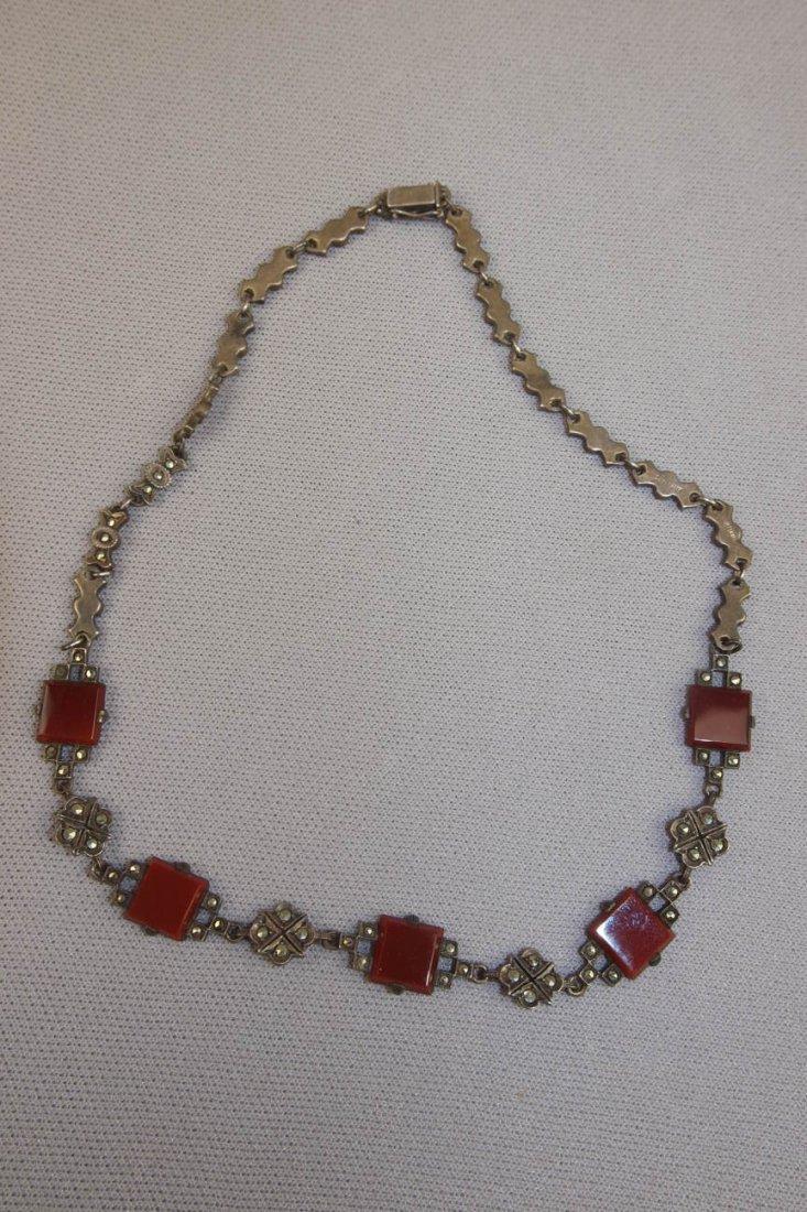 Antique German sterling necklace