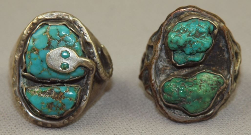 Native American Navajo Indian antique sterling and