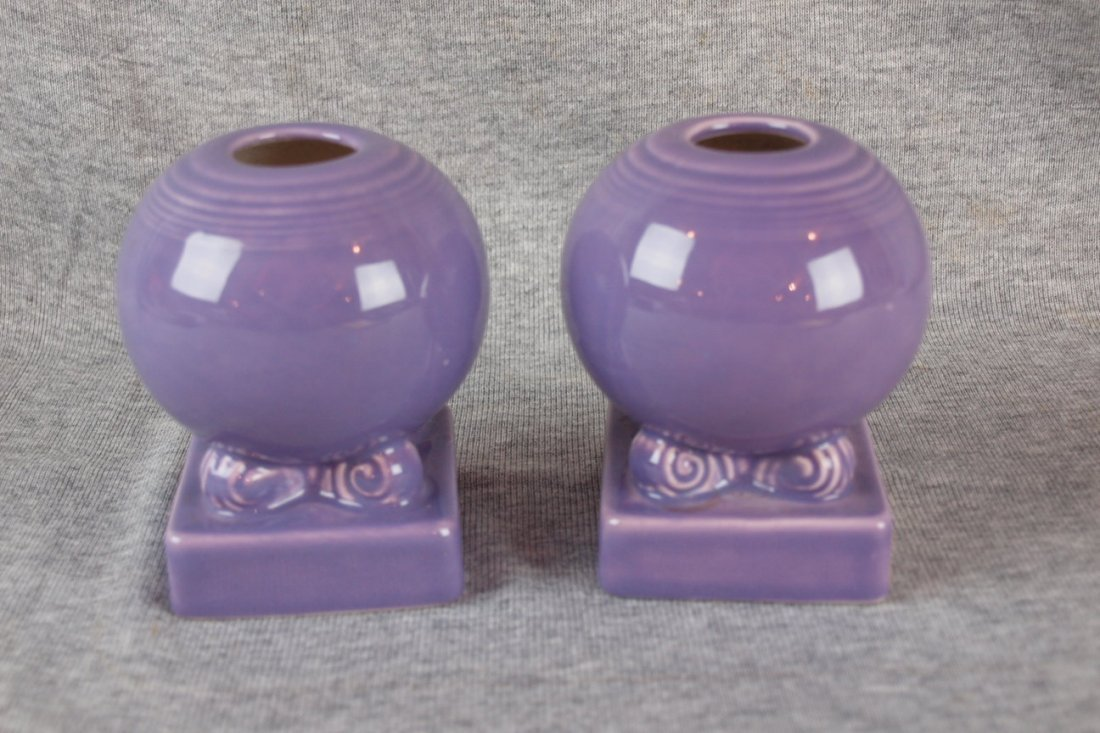 Fiesta post 86 lilac pair of bulb candle holders