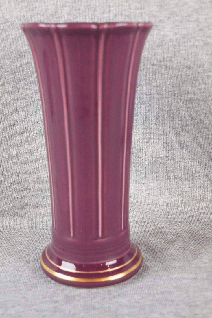 """Fiesta post 86 heather 8"""" flower vase, 2007 HLCCA"""