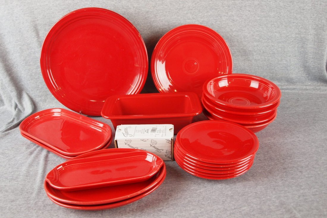 Fiesta post 86 scarlet lot of 22 pcs