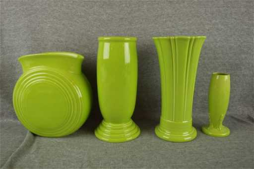 Fiesta Post 86 Chartreuse Vase Group Millennium Ii