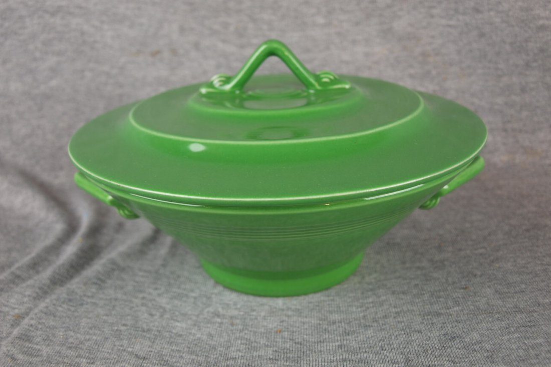 RARE Harlequin medium green casserole, one of two known