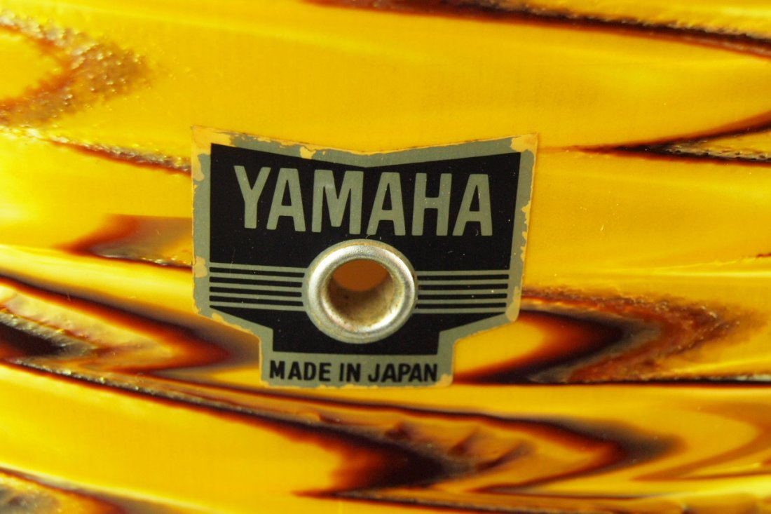 """Yamaha 1960/70's """"Yellow Tiger"""" drum set with 4 drums,  - 3"""