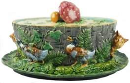 A rare and important Minton Majolica 'Mushroom' tureen