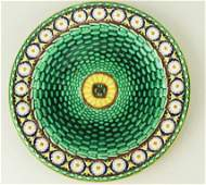 A Wedgwood Majolica 'Stanley' pattern dessert plate
