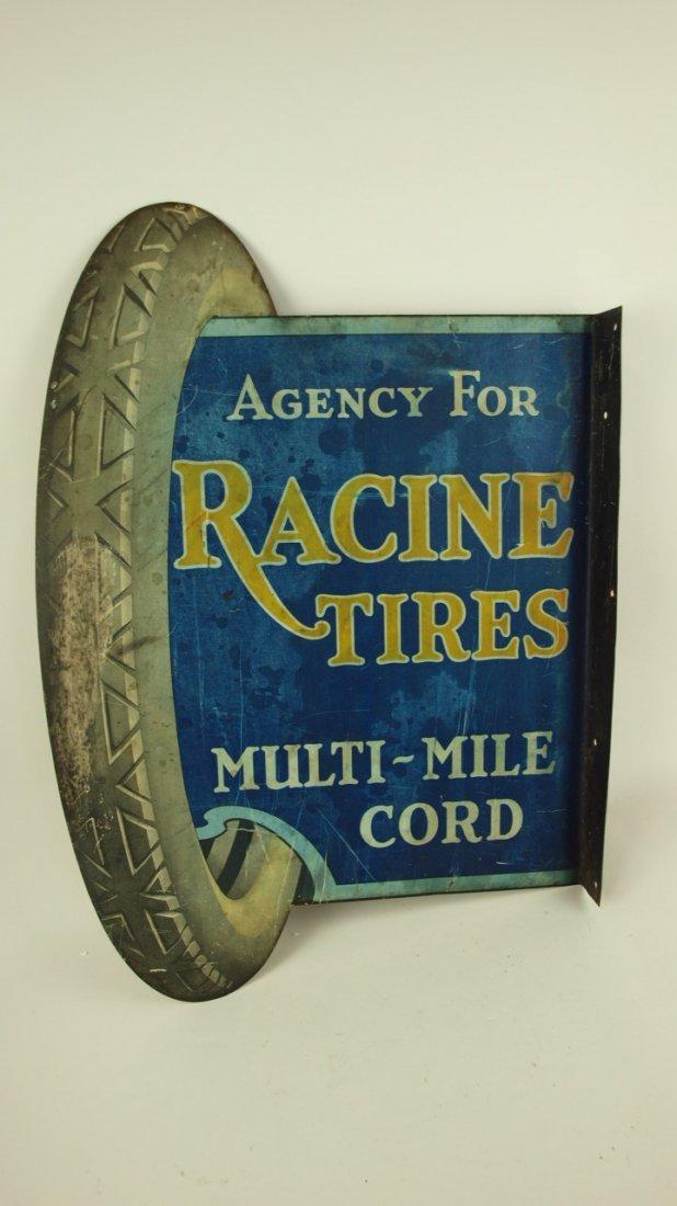 Racine Tires Multi-Mile Cord Automotive Plasma Cut Metal Sign