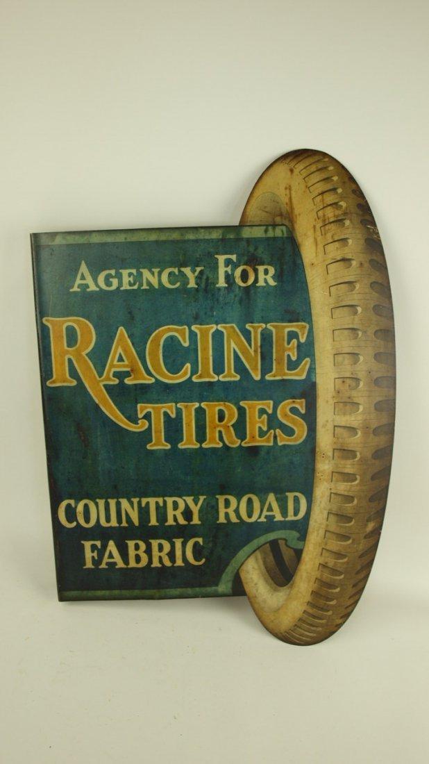 Rare Racine Tires advertising sign - 2
