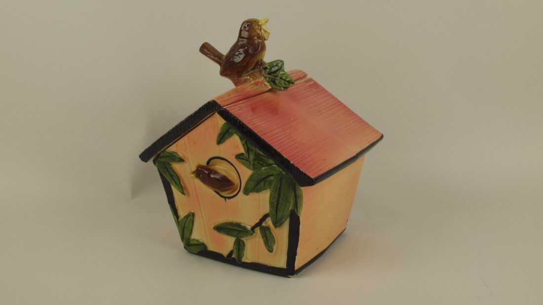 McCoy bird & bird house cookie jar