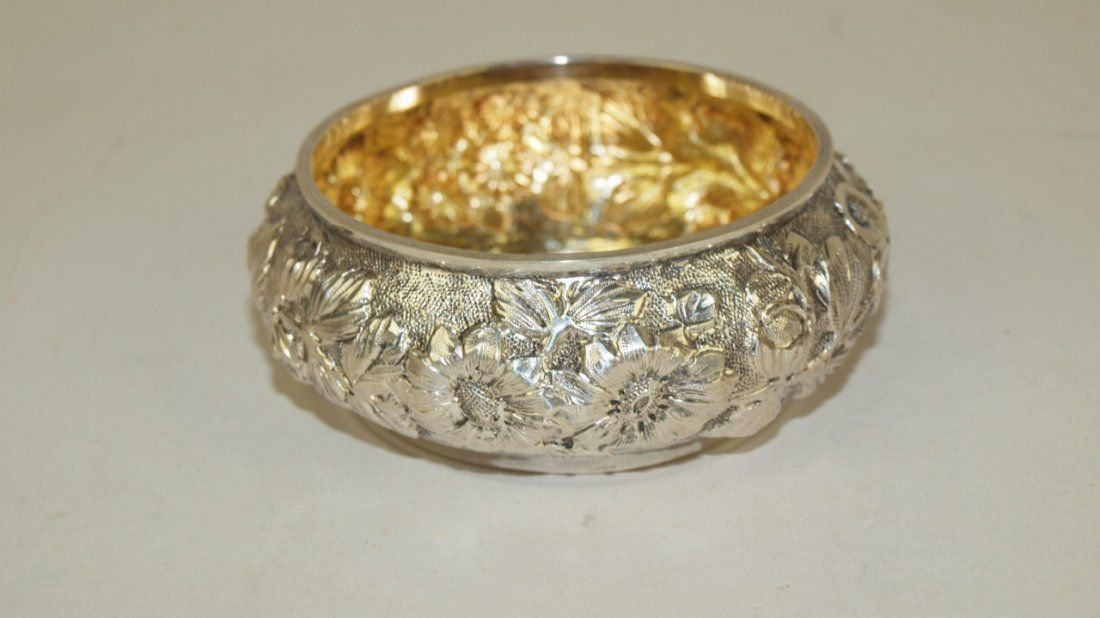 Jacobs & Jenkins RePousse sterling silver pin dish 2.18