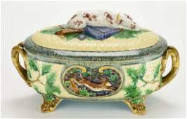 A Minton Majolica Gun Dog Game Tureen c1875 Shape